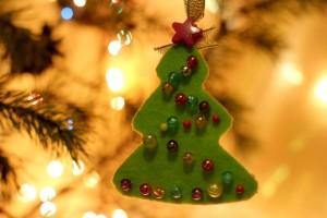 children's Christmas felt crafts